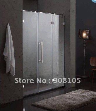 China Wholesale Customized Clear Tempered Glass Shower Screen Curtain Wall  Door With Aluminum Profile Frame Sliding