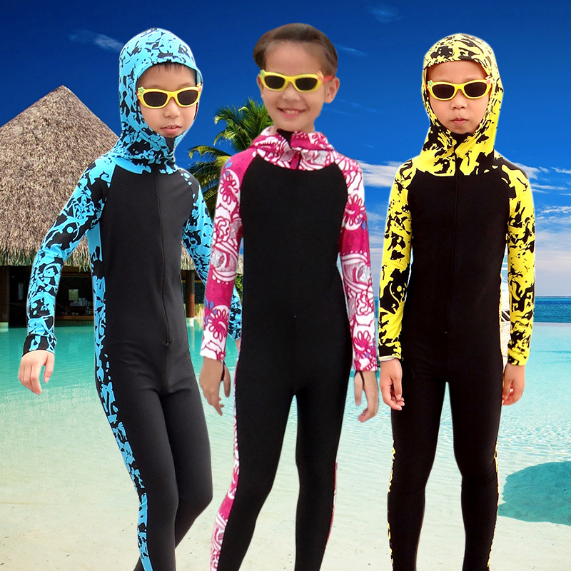 High Quality Scuba Diving Wetsuit Suits for Kids Swimming Diving Equipment Long-sleeved Beach Clothing
