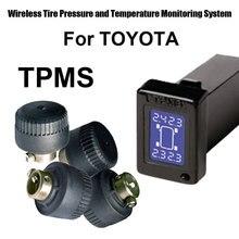 اللاسلكي نظام مراقبة ضغط الإطارات tpms سيارة لتويوتا مع 4 قطع الاستشعار الخارجية