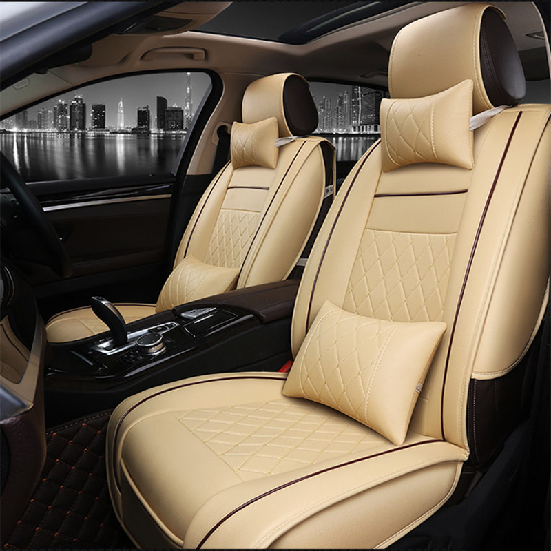 Universal PU Leather car seat cover For Citroen C3-XR C4 Cactus C2 C3 Aircross SUV DS car accessories car Stickers car- styling tonlinker 3 pcs diy car styling pu leather full surround special food mat cover case stickers for ford fiesta 2013 accessories