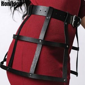 Image 3 - Leather Cage Harness Bondage Dress Flirting Erotic Waist Strap Adjustable Lingerie Fetish Underwear Women Garter Belt  Rave Club