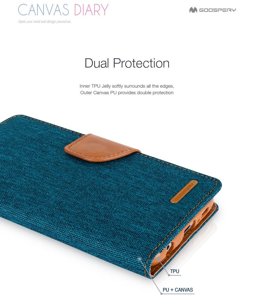 Original Mercury Goospery Wallet Case Canvas Diary Flip Cover For Samsung Galaxy Grand Prime J2 Pearl Jelly Black J1 J3 J5 J7 A3 A5 A7 A8 A9 2016 2017 In Cases From