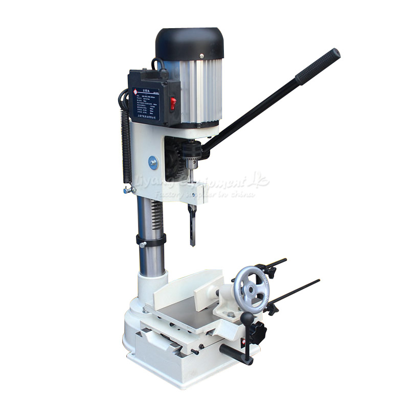 750W Carpentry Groover Woodworking Mortising Machine Drilling Hole Tenoning