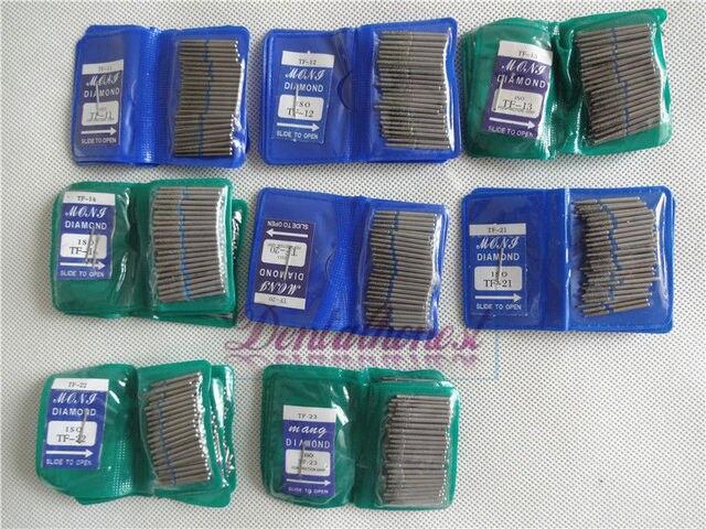 50 piezas serie TF Dental FG Burs de alta velocidad para suministros de pulido Dental