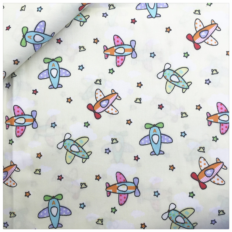 Beige Avión Diy Tela de Algodón Que Acolcha Art Work Home Textile Patchwork Deco