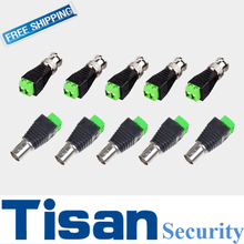 10Pairs Cat5/Cat6 to BNC Coaxial Connector Screw Terminal CCTV Security Camera