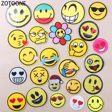 ZOTOONE Cute Impressions Iron on Patches for Clothing Lovely Fashion Embroidered Clothes DIY Kids Gifts Applications