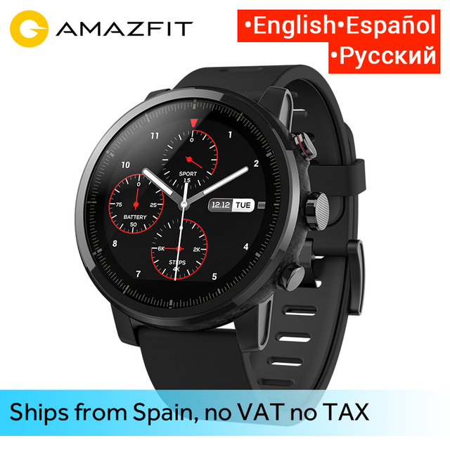 Huami Amazfit 2 Amazfit Stratos Tempo 2 Smart Horloge Mannen met GPS Xiaomi Horloges PPG Hartslagmeter 5ATM Waterdicht