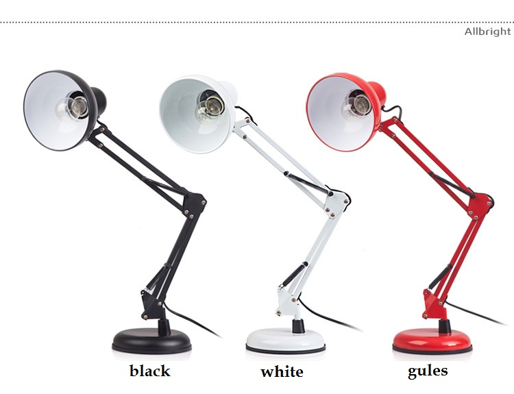 ФОТО Simple iron arm folding learning office LED lamp