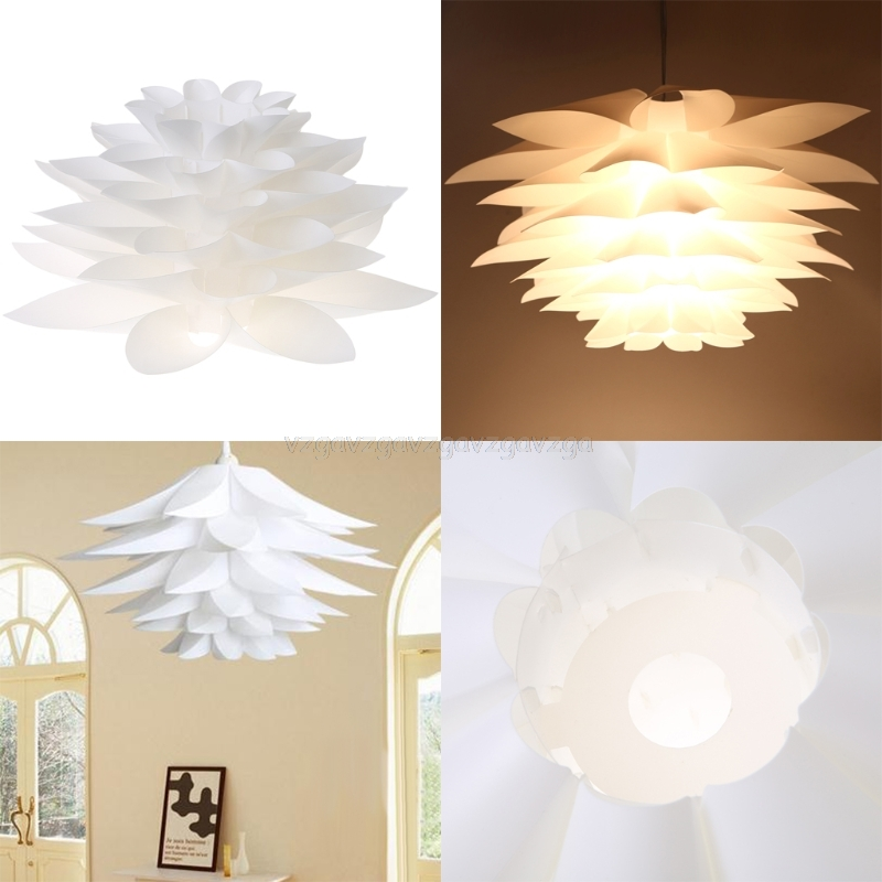 Lamp Covers & Shades New Style Fashion Diy Lily Lotus Iq Puzzle Pendant Lampshade Cafe Restaurant Ceiling Hanging Lamp J16 19 Dropship Lights & Lighting
