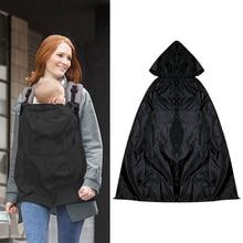 Унисекс, детский зимний непромокаемый ветронепроницаемый плед-переноска, накидка от Солнца/дождя, черная одежда