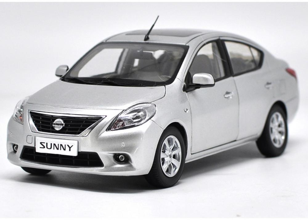 1/18 Scale <font><b>Nissan</b></font> Sunny Silver <font><b>Diecast</b></font> Model <font><b>Car</b></font> Toy Collection Gift image