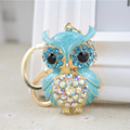 Luxury Gifts A Grade Women Sexy Key Holder Chain Ring Car Jewelry Bag Pendant Rhinestone Owl Keychain bolsa feminina