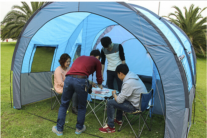 Large C&ing Tent for 8 10 person For Outdoor Sport With Big Space Waterproof Four Season Tent Fabric C&ing Tent Tents-in Tents from Sports ... & Large Camping Tent for 8 10 person For Outdoor Sport With Big ...