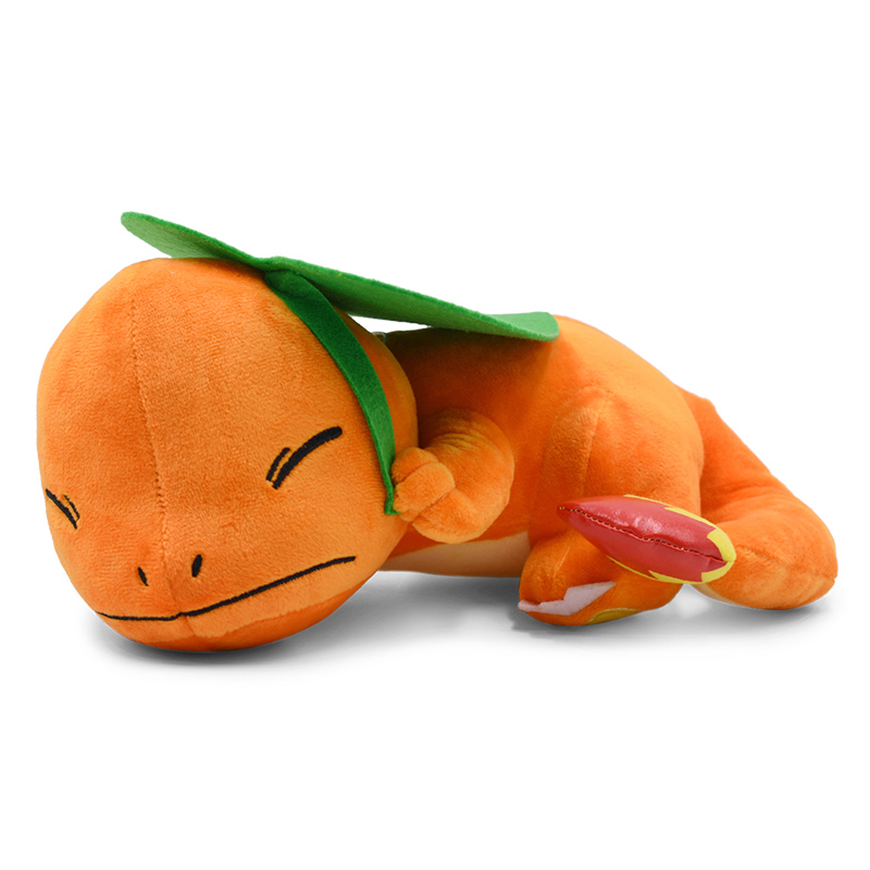 Crouching Sleeping Charmander Plush Toy Soft Doll Stuffed Gift For Kids