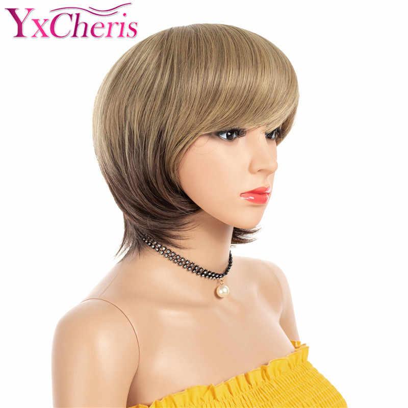 Detail Umpan Balik Pertanyaan tentang Rambut Rusa Pendek untuk Wanita  Synthetic Rambut Pendek Teguran Wanita Serat Tahan Panas Ombre Cokelat Bob  Teguran ... 26e339cadd