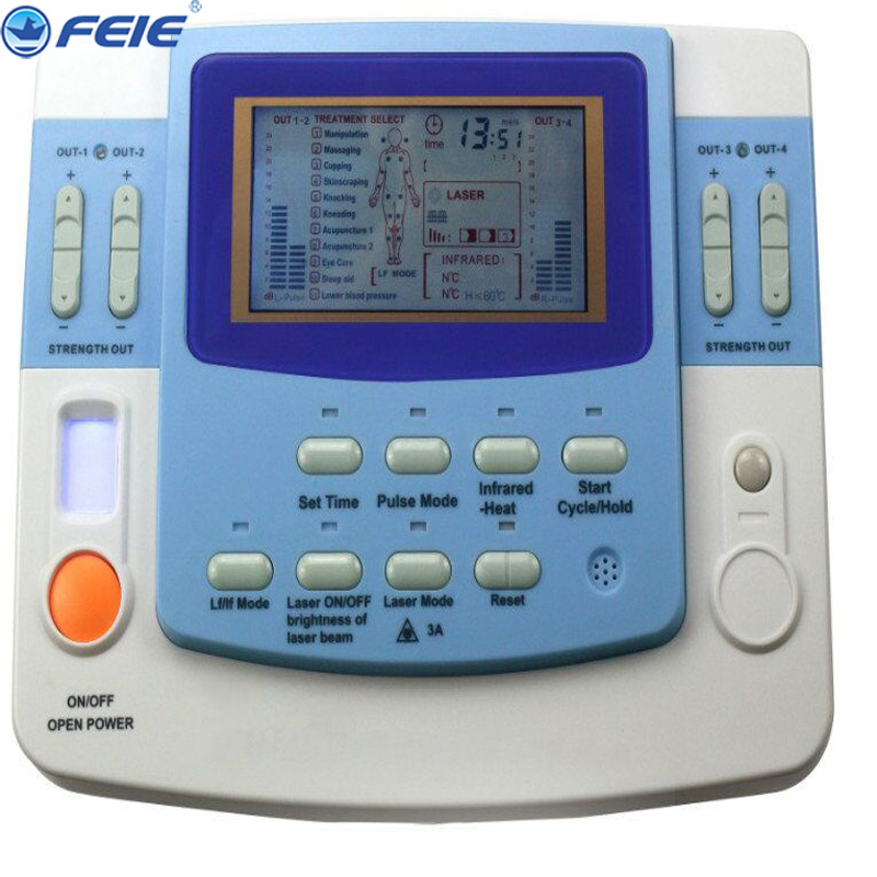 Electrical Stimulator Full Body Relax Muscle Therapy Massager Massage Pulse Health Care Slimming Machine EV-FA29 As Gift dual output ems digital massager 8 pads pulse slimming muscle relax massage electric slim full body massager