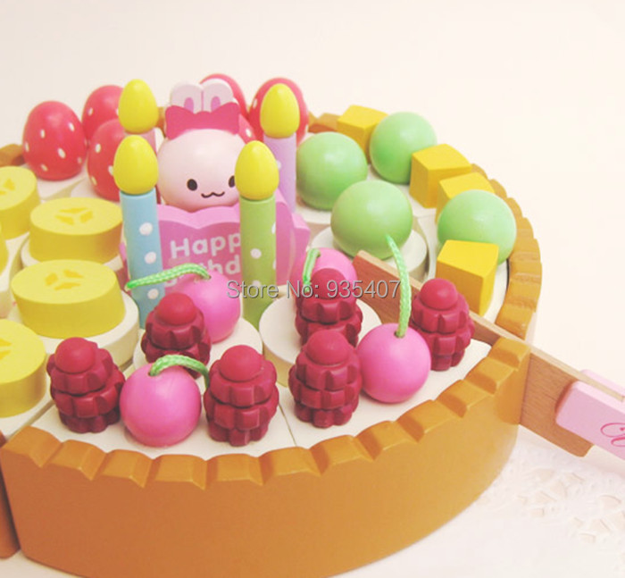 New Wooden mother garden cake + choppers kithcn toy set Free shipping детская сумка 004 mother garden