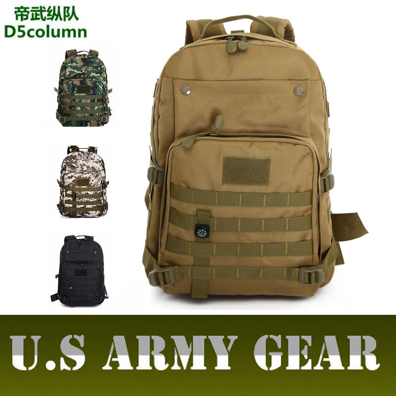 ФОТО D5Column 35L Military Tactics Backpack Camouflage Rucksack Molle Outside Trek Backpacks Bag Men Women Leisure Nylon Bags