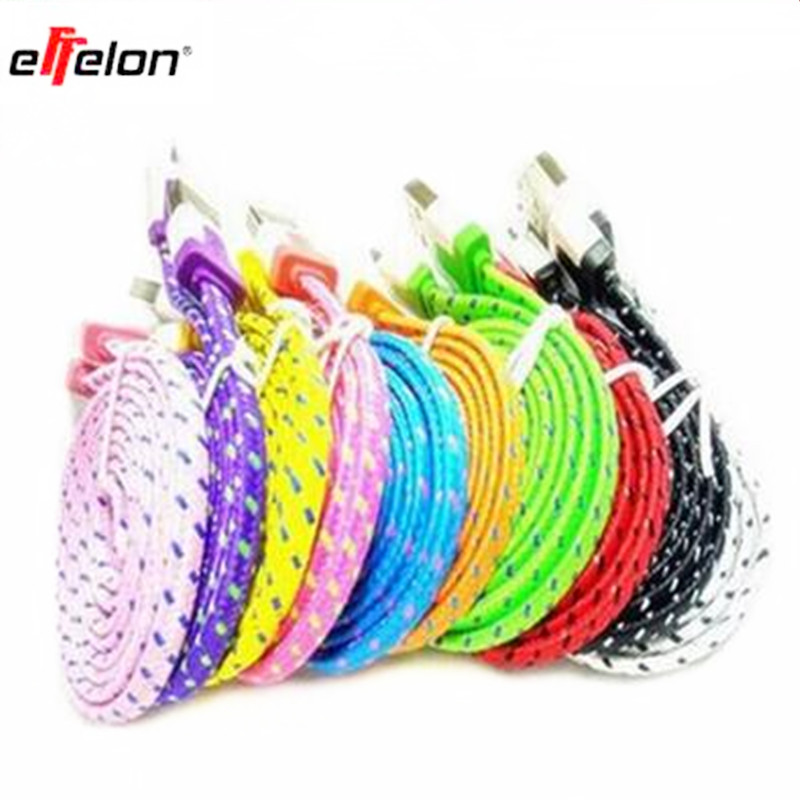 effelon Hit 1m 2m 3m nylon micro USB cable charger data synchronization for Android smartp