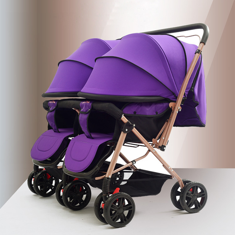 double stroller portable twins strollers can sit can be folded baby stroller for newborns
