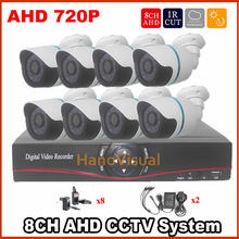 Best selling!Home 8CH CCTV Security Camera System DVR 8pc Outdoor Waterproof Bullet Camera Video Surveillance Kit AHD DVR system