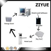 Complete RFID Hotel Lock System Demo Kit Lock Encoder 10pcs Card Energy Saving Switch Software