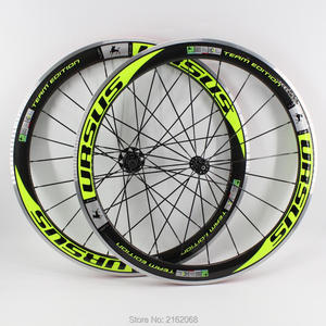 Новый Зеленый Цвет 700C гоночный дорожный велосипед, 50 мм клиншер обода велосипеда 3K карбоновая колесная рама с легированной тормозной повер...