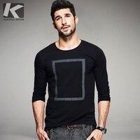 2016 Autumn Mens Casual T Shirts Print Black White Brand Clothing O Neck Long Sleeve Man