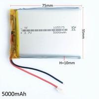 3.7 V 5000 mAh de Polímero De Litio Li-po Batería Recargable Para PSP DVD GPS PAD tablet pc portátil de Libros Electrónicos de energía del ordenador portátil banco 105575