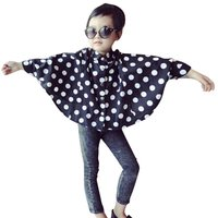 Hot Fashion Toddler Baby Infant Kids Girls Stand Neck Polka Dots Shirts Cape Cloak Costume