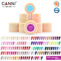 #50618 envío gratis canni nail art set peel off 141 colores de la pintura del gel uv/led gel de color