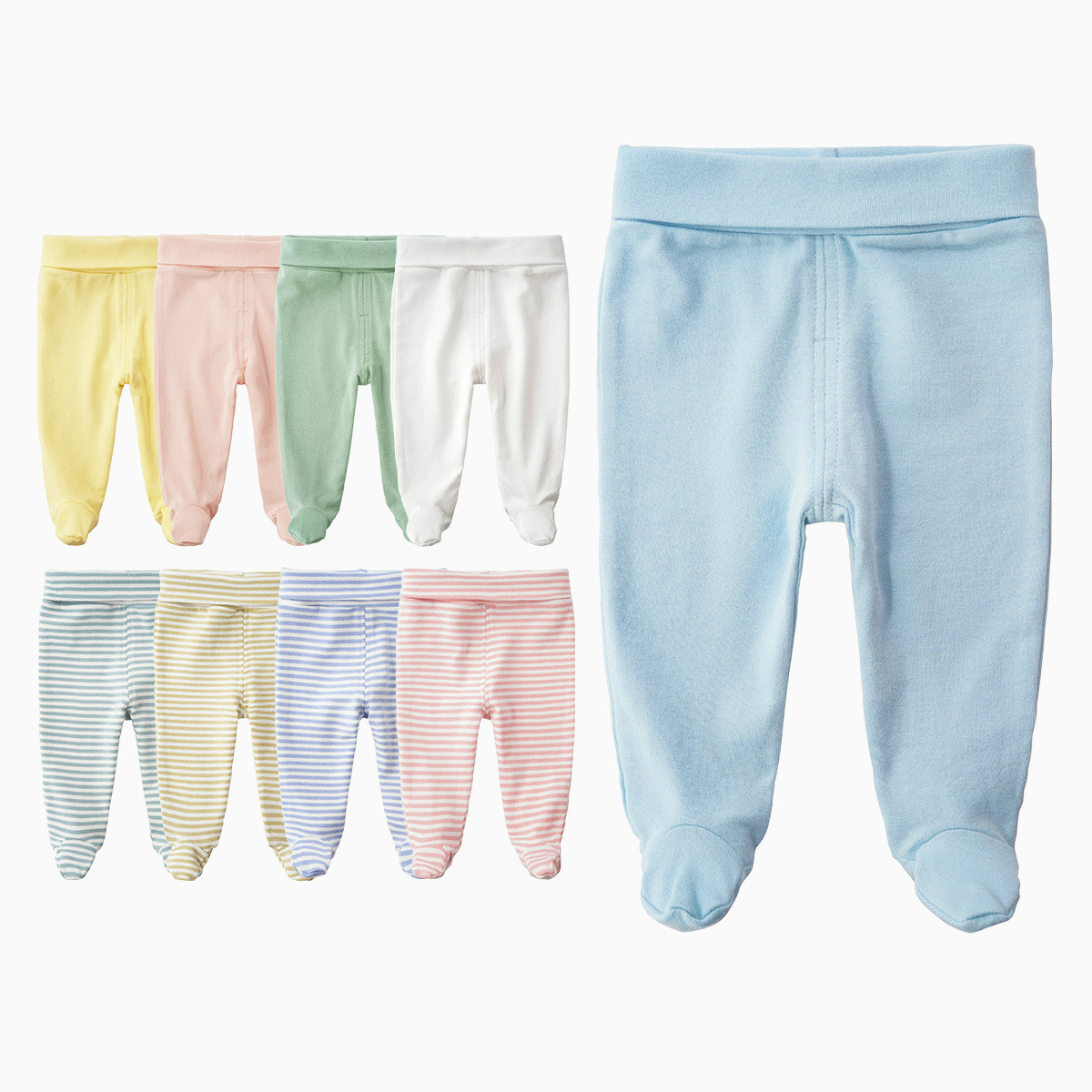 2020 Newborn Baby Pants Baby Boy Clothes Autumn Unisex Solid Loose Casual Cotton Broadcloth Infant-clothing Baby Leggins