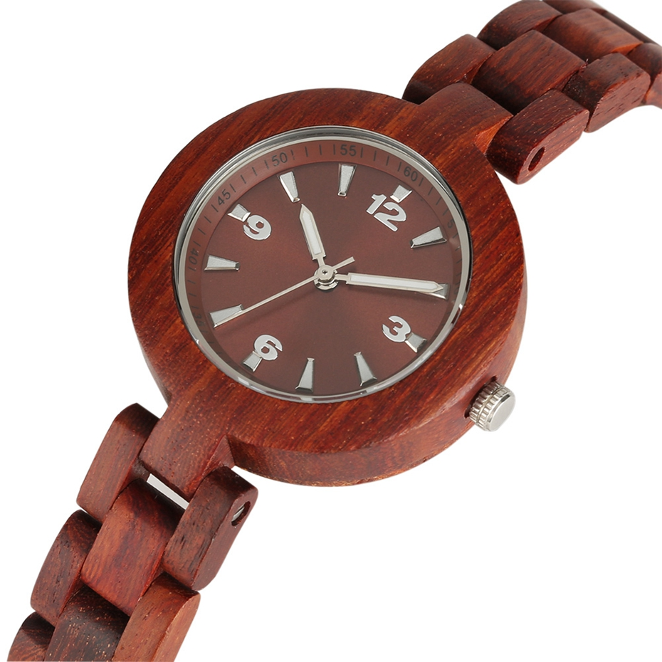 Women's Wood Watches Top Brand Unique Little Cute Dial Quartz Clock Ladies Dress Wooden Bangle Watch Environmentally reloj mujer 2018 2020 2019 (3)