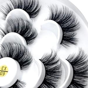 Image 2 - HBZGTLAD New 7 pairs natural false eyelashes fake lashes long makeup 3d mink lashes eyelash extension mink eyelashes for beauty