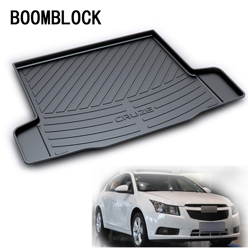 For Chevrolet Cruze Sedan 2011 2012 2009 2010 2013 2014 Waterproof Anti-slip Car Trunk Mat Tray Floor Carpet Pad Protector in search of lost time vol 4