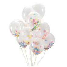 Практичные 12 дюймовые радужные яркие конфетти воздушные шары для вечерние украшения для дня рождения, фестиваля, свадебной вечеринки(упаковка из 12