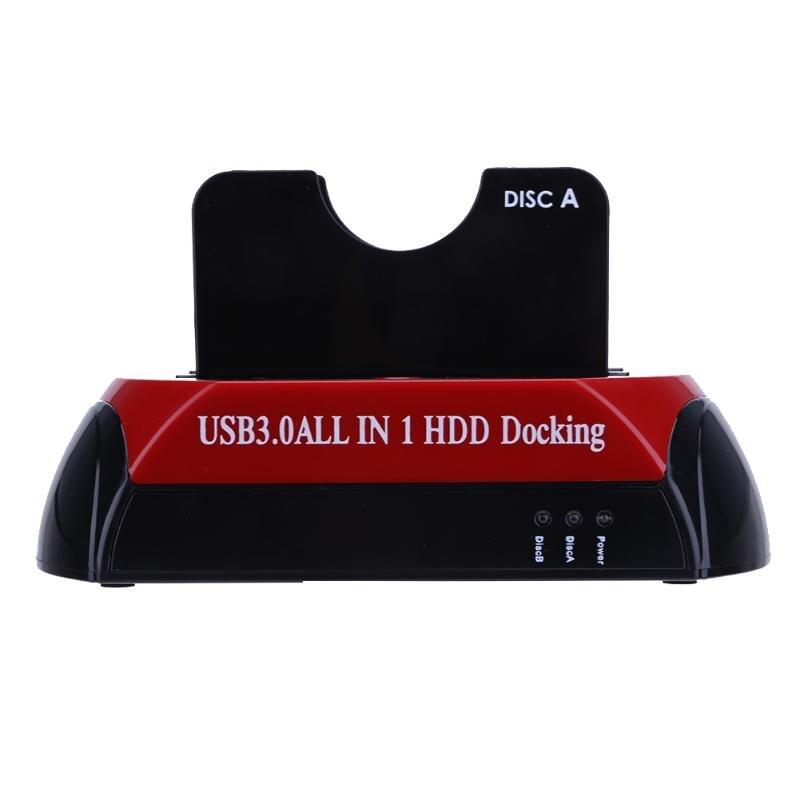 USB 3.0 tout en un HDD Station d'accueil avec Multi lecteur de carte Slot pour HDD 2.5/3.5 pouces SATA/IDE disque dur Station d'accueil