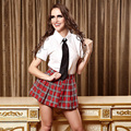 White & red plaid saia conjunto menina da escola escola privada querida costume fancy dress japonês uniforme escolar estudante britânico