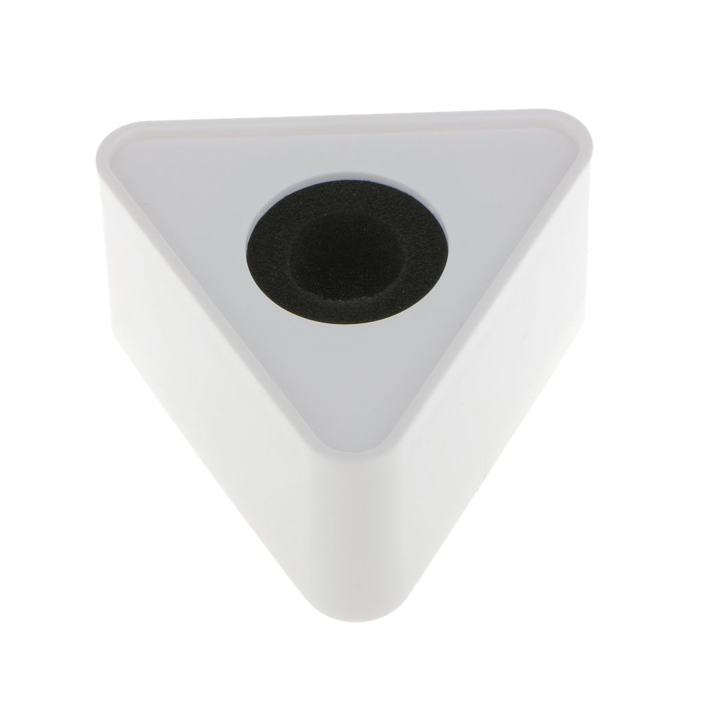 White ABS Triangular Microphone Station For Interview Self-image Improve