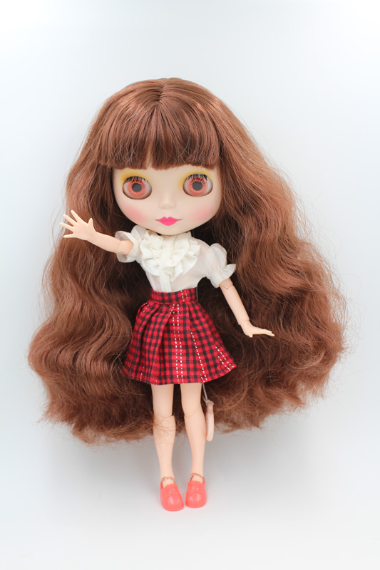 Free Shipping BJD joint RBL-245MJ DIY Nude Blyth doll birthday gift for girl 4 colour big eyes doll with beautiful Hair cute toy free shipping diy nude blyth doll birthday gift for girl big eyes with beautiful hair cute toy