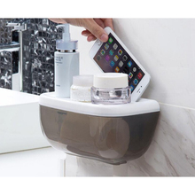 Home Suction Cup Paper Towel Holder Bathroom Tissue Box Tray Waterproof Toilet Organizer  Stuff