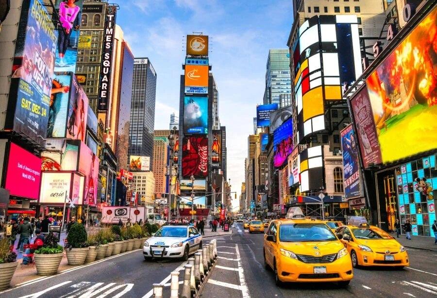 NEW YORK CITY Times Square การถ่ายภาพฉากหลังภาพพื้นหลังไวนิลคุณภาพสูง|Background| - AliExpress