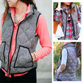 Women Autumn Winter Fashion Waistcoat jackests Thick Warm Down Cotton Vest coat female Large Size Outerwear