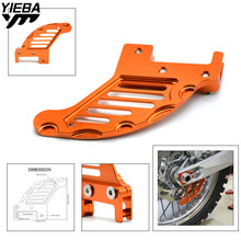motorcycle accessories aluminum Rear brake disc guard potector For KTM 530 EXC 2009-2011 530 XC-W 2009-2010 560 SMR 2006 2007 цена