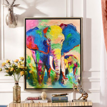 Colorful Tropical South America Impression! Handmade Modern Landscape Oil Painting On Canvas Wall Art animal elephant Home Decor