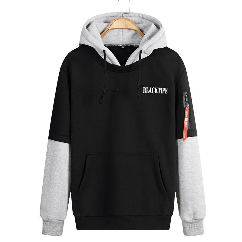2017 Mens Spring Autumn Fashion Christmas Hoodies Sweatshirt Men Tops Outwear Pullover Patchwork Colors Plus Size M-XXXL 4XL