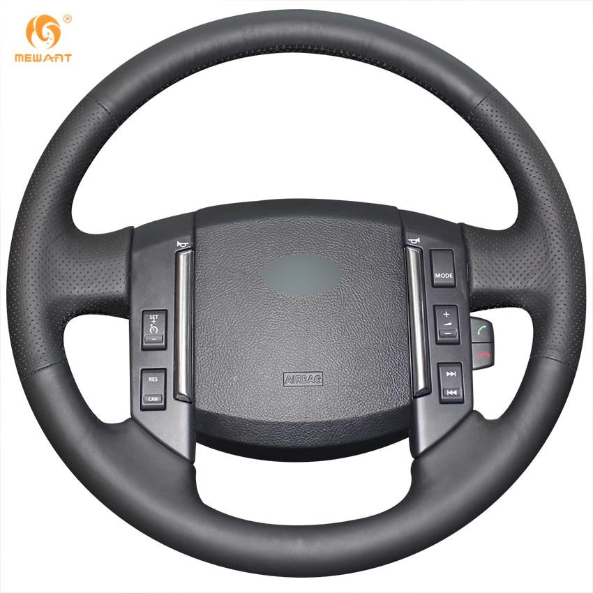 MEWANT Black Genuine Leather Car Steering Wheel Cover for Land Rover Freelander 2 2007-2012 2012 jlr mongoose jaguar and land rover v129 diagnostic interface