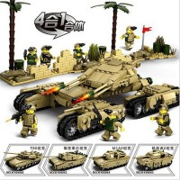 4in1 Building Block 1242ps Military Weapon Super Army Tank Compatible Legoed Military Weapon Tank Educational Kids Toys D