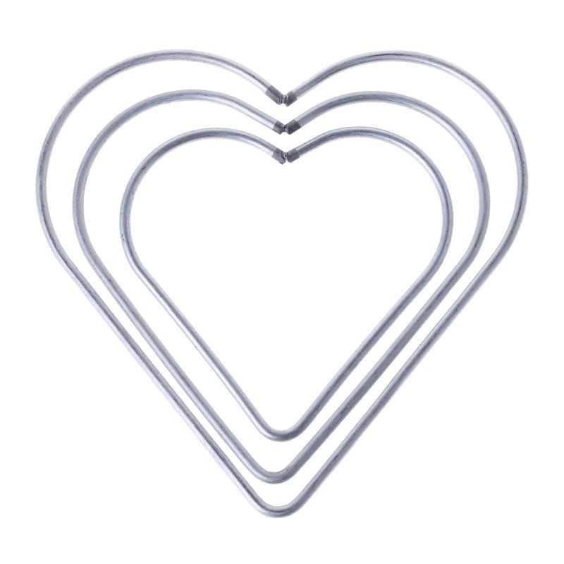 หัวใจโลหะ Dream Catcher Dreamcatcher แหวน Macrame Craft Hoop อุปกรณ์เสริม DIY